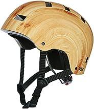 Skateboard Helmet Adult Bike Helmet for Women Men Kids-Adjustable Dial Bicycle Skate Scooter Sport Helmet, Bla