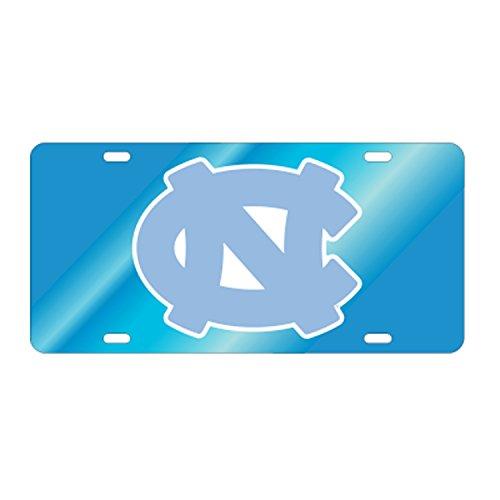 North Carolina Tarheels/UNC Reflective Mirror Blue Car Tag ()