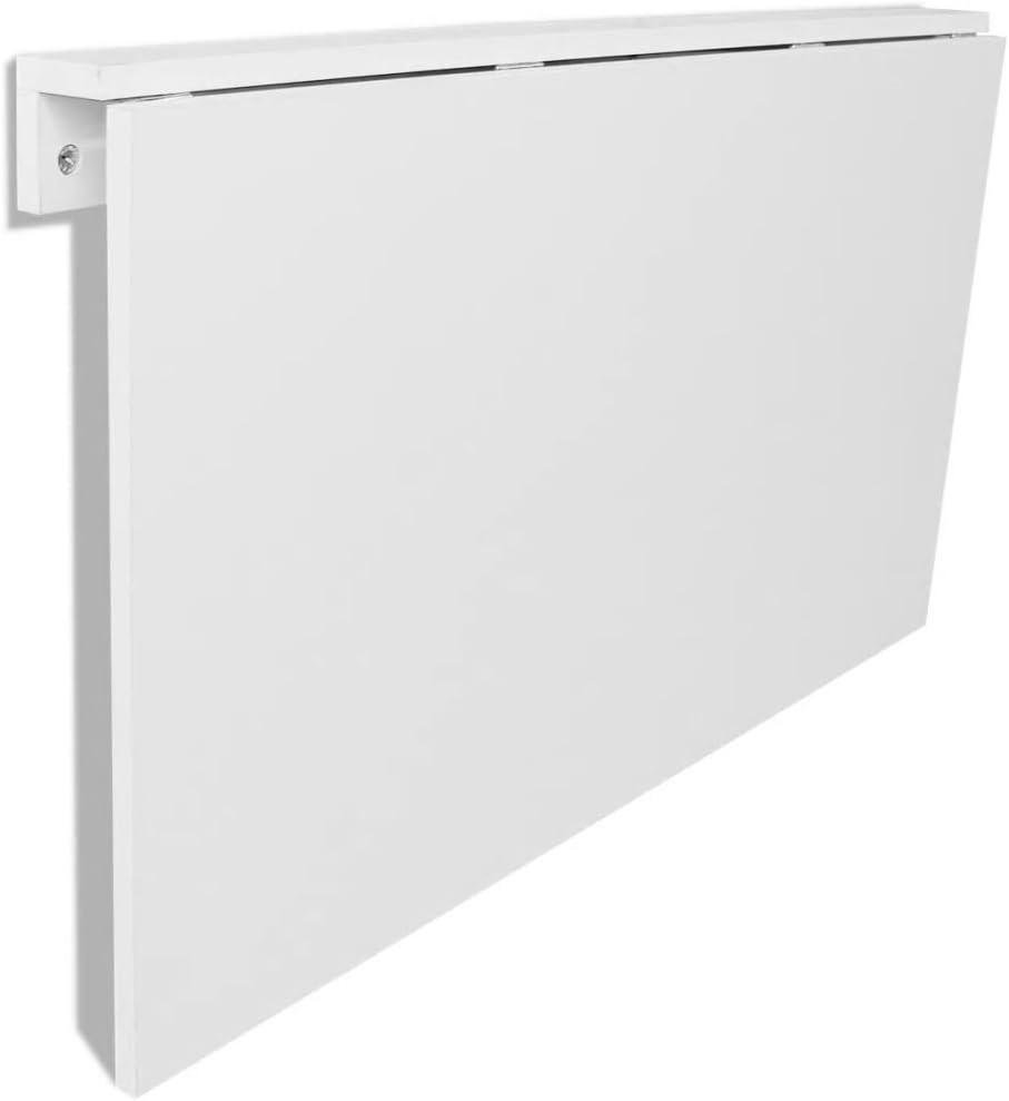100x60 cm Mesa Plegable Mesa de Escritorio Mesa de Oficina Blanco lyrlody Mesa de Comedor de Pared