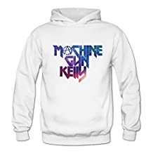100% Cotton Rapper Machine Gun Kelly MGK Starry Logo White Hoodies For Womens