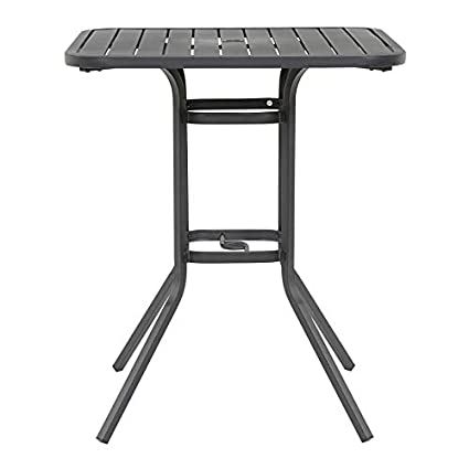 Terrific Amazon Com Garden Treasures Square Bar Height Table 33 In W Lamtechconsult Wood Chair Design Ideas Lamtechconsultcom