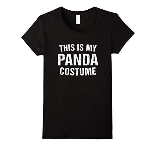 Womens Panda Costume Halloween T Shirt for Men Women Kids Large (Ladies Panda Costume)