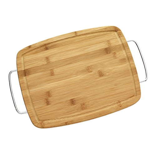 - Farberware Bamboo Cutting Board with Metal Handle, 11-Inch-by-14-Inch