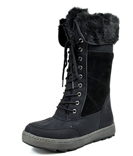 Arctiv8 Women's Musk Black Knee High Winter Snow Boots - 8 M US