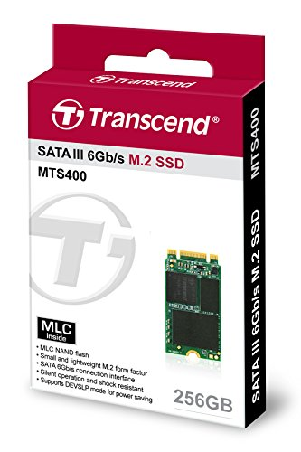 Transcend 256GB SATA III 6Gb/s MTS400 42 mm M.2 SSD Solid State Drive (TS256GMTS400S) by Transcend