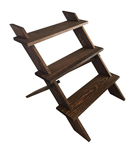 Crafters Elements Display Shelf Stand for Bath Bombs, Retail Craft Shows, Wooden 3 tier Shelf Dimensions, No Tools Required Easy Assembly - Elements Stand