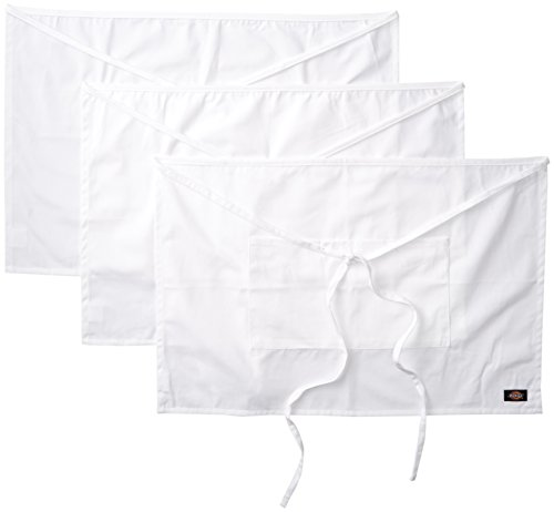 Dickies Chef  3 Pack Half Waist Bistro Apron, White, One Size (White Cook Apron compare prices)
