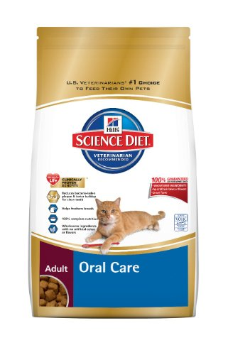 Hills Science Diet Adult Oral Care Dry Cat Food 7-Pound Bag