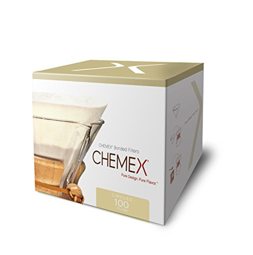 Chemex Bonded Coffee Filter, Circle, 100ct - Exclusive Packaging by Chemex