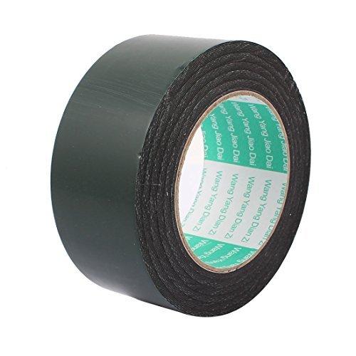 DealMux 50mm x 0.5mm Black Dual Sided Self Adhesive Sponge Foam Tape 10M Length
