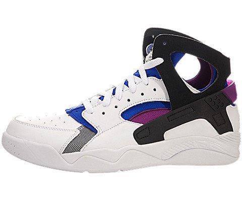 Nike Air Flight Huarache PRM QS Men's Shoes White/Black-Lyon Blue-Bold Berry 686203-100 (8.5 D(M) US)