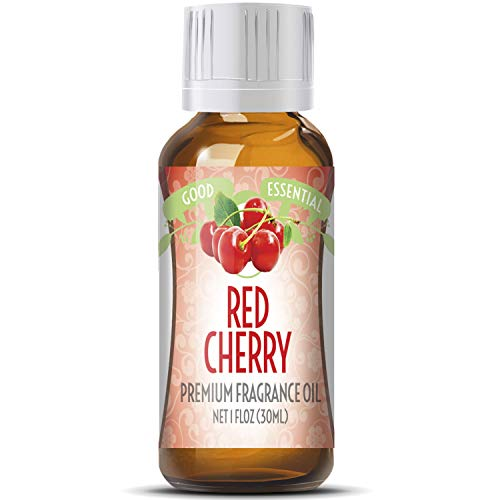 Red Cherry Scented Oil by Good Essential (Huge 1oz Bottle - Premium Grade Fragrance Oil) - Perfect for Aromatherapy, Soaps, Candles, Slime, Lotions, and ()