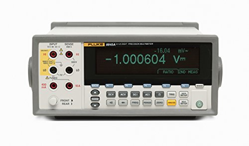 Fluke 8845A 120V 6.5 Dual Digital Display Precision Multimeter, 35 PPM, 0.0035 Percent Accuracy, 100 pA Resolution, Includes ISO 17025 Accredited Certificate of - 100 Pa Stores