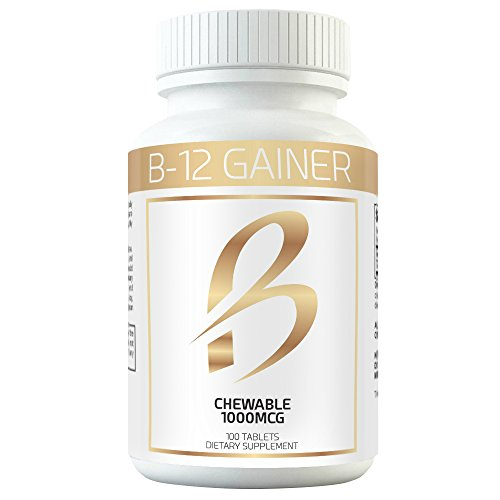 Gain Weight Fast w Weight Gainer B-12 Chewable Absorbs Faster Than Weight Gain Pills for Fast Massive Weight Gain in Men and Women While Opening Your Appetite More Than Protein (Best Weight Gain Powder)