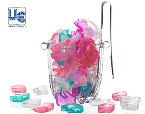 Urban Essentials Reusable Chilling Colorful Unicorn Shaped Plastic Ice cube set (60)