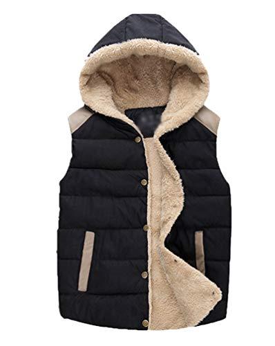 Casual Giubbino Yiiquan Nero Trapuntato Giacche Imbottita Unisex Inverno Cappotto Gilet Caldo 4xwBH6qa