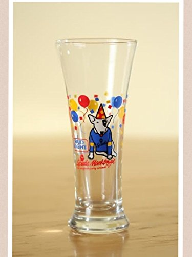 Vintage 1987 Bud Light Spuds Mackenzie Tall Beer Glass - the Original Party Animal ()