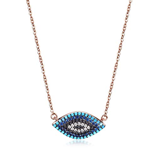 CIUNOFOR Evil Eye Necklace for Women Gir...