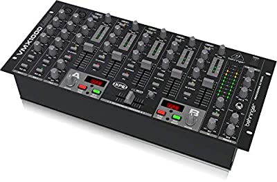 Behringer Pro Mixer VMX1000USB Professional 7-Channel Rack-Mount DJ Mixer with USB/Audio Interface from Behringer