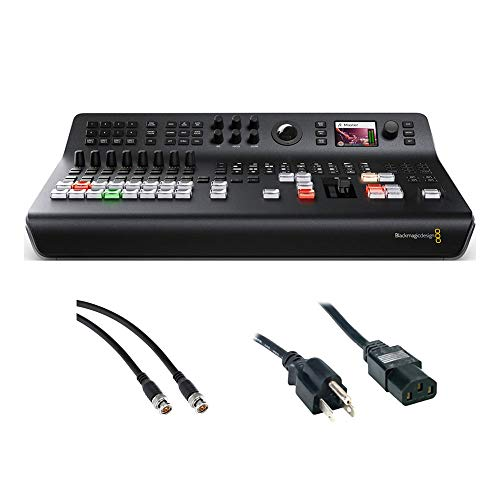 Blackmagic Design ATEM Television Studio Pro HD Live Production Switcher with SDI Video Cable & PC Power Cord 6' Bundle