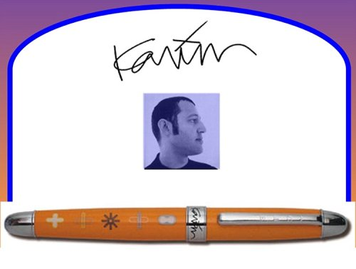 (ACME Studio Orange Roller Ball Pen by Karim Rashid Pre-Owned)