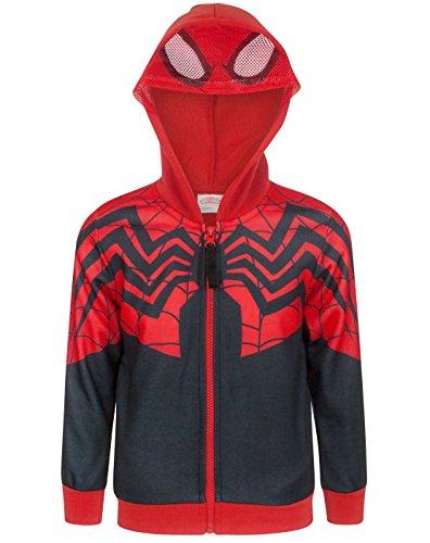 SpiderMan Boy's Zip Up Costume Hoodie (3 Years) -