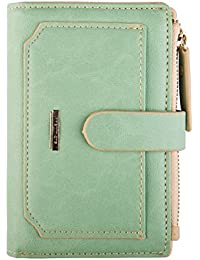 Womens Wallet Candy Color Bifold Mini Vintage Card Holder Compact Wallet Case for women
