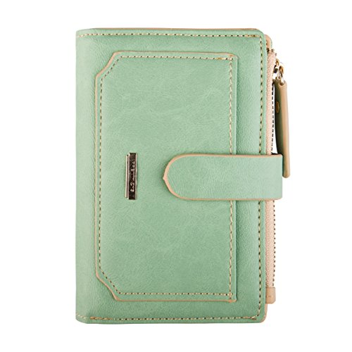 INDRESSME Womens Wallet Candy Color Bifold Mini Vintage Card Holder Compact Wallet for Women Lime
