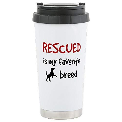 Breed Stainless Steel Travel Mug - CafePress Rescued Is My Favorite Breed Travel Mug Stainless Steel Travel Mug, Insulated 16 oz. Coffee Tumbler