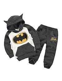 Nine Minow Kids Clothes Sets Hoodie and Pants Superhero Set