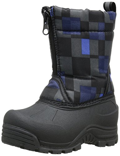 Northside Icicle Cold Weather Unisex Boot (Big Kid), Black/Royal, 5 M US Big Kid