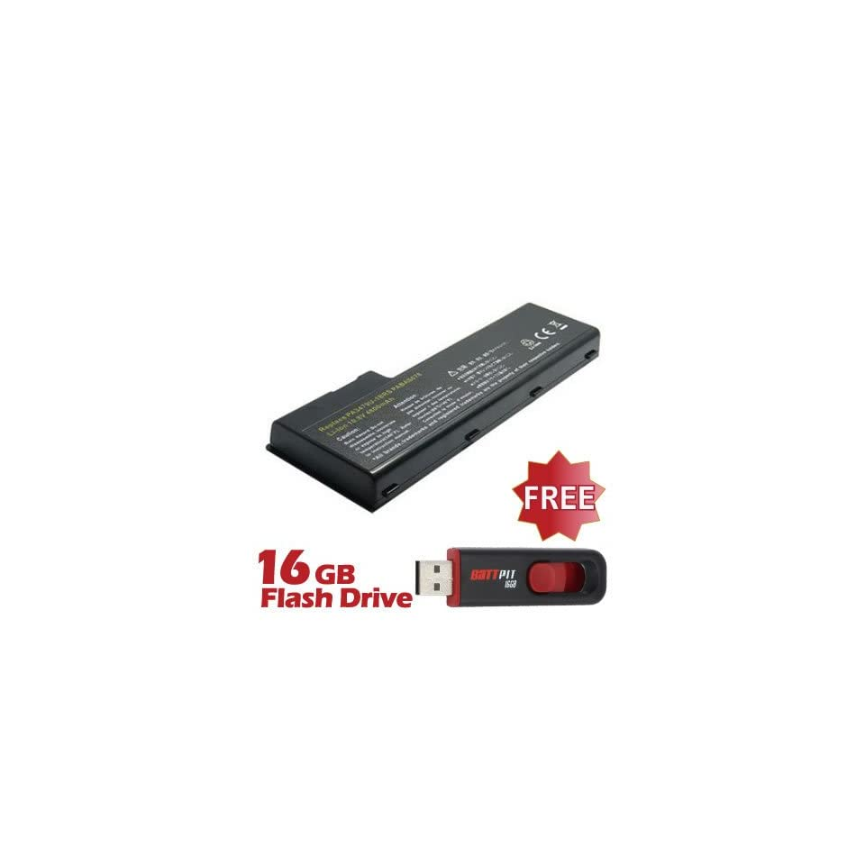 Battpit™ Laptop / Notebook Battery Replacement for Toshiba Satellite P100 108 (6600 mAh) with FREE 16GB Battpit™ USB Flash Drive