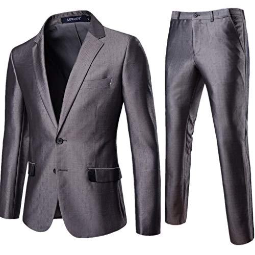(Blazer Jacket for Men's Business Leisure Simple Two-Button Wedding Party Dress)