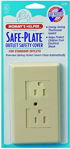 Mommys Helper Safe Plate Electrical Outlet Covers Standard, - 3 Count (Helper Standard Mommys Plate Safe)