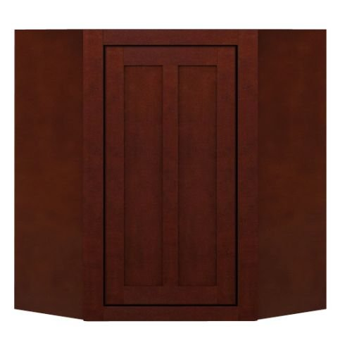 Sagehill Designs LDW2430DC Lakewood 24″ x 30″ Diagonal Corner Kitchen Wall Cabin, Cabernet