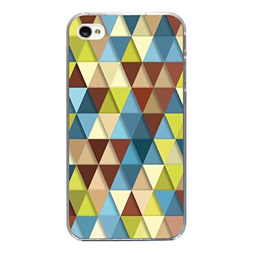 "Disagu Design Case Schutzhülle für Apple iPhone 4s Hülle Cover - Motiv ""Bunte Dreiecke 2"""