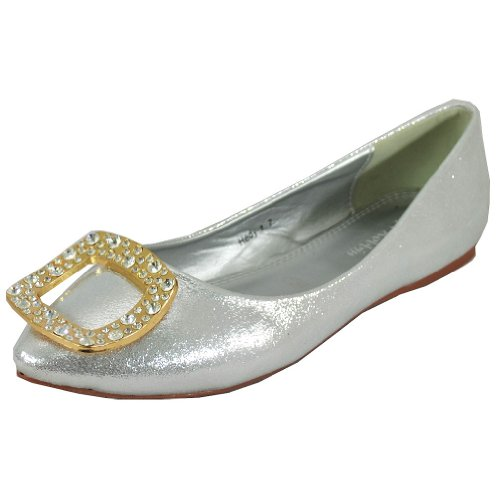 Robbin Cape Women's Silver 1 Flats Hedy 48xzwqxv