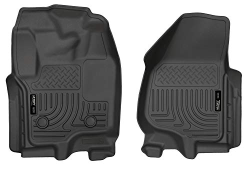 Husky Liners – 18701 Fits 2012-16 Ford F-250/F-350 Crew Cab/SuperCab Weatherbeater Front Floor Mats Black
