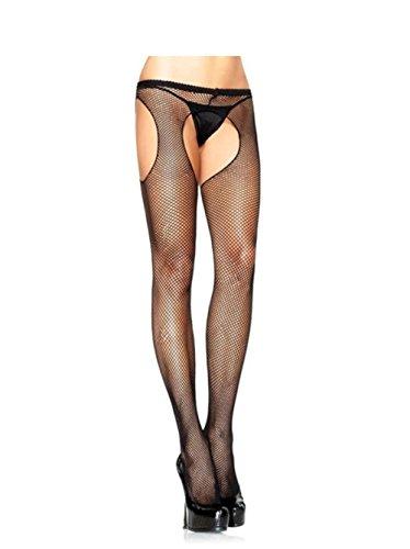 Leg Avenue Women's Fishnet Suspender Pantyhose- One Size