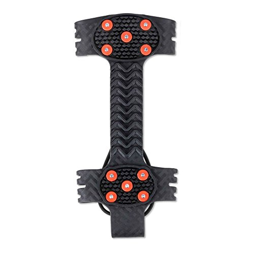 TREX 6310 Adjustable Traction Cleat Grips Ice and Snow, One-Piece Easily Attaches Over Shoe/Boot with Carbon Steel Spikes to Provide Anti-Slip Solution, Large from Ergodyne
