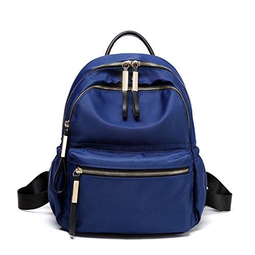 2018 nuevo paquete Oxford tela doble bolso de hombro elegante y versátil mochila, estudiantes azul