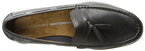 Rockport Mens Klassiska Drag Hängande Tofs Slip-on Loafer Svart Läder