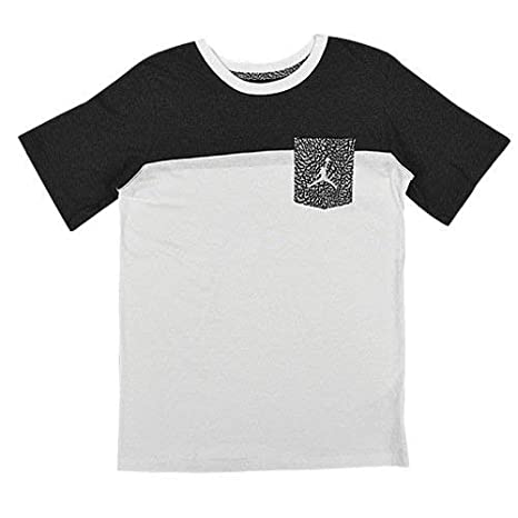 new style b7399 abecb Jordan Jumpman Big Boys Short Sleeve Graphic Pocket T-Shirt (Medium (10