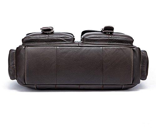 1 Mochila Hombre Bolsos 38x10x26CM 1 Cuero y Piel Resistentes de Sucastle Bandolera Bolso de Hombro Autentico Pequeña Pecho Bolsos Bolsa pIx8qUWH5W