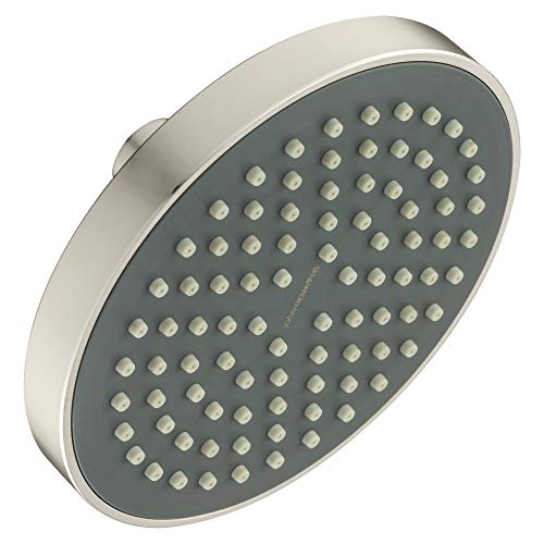 ShowerMaxx | Choice Series | 6 inch Round High Pressure Rainfall Shower Head | MAXX-imize Your Rainfall Experience with Easy-to-Remove Flow Restrictor Rain Showerhead | Brushed Nickel Finish