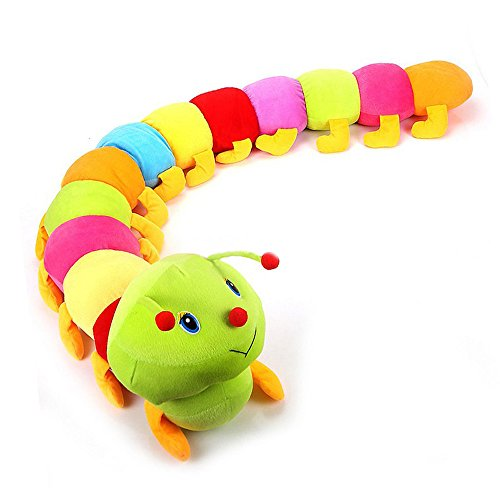 WuKong 78'' Colorful Caterpillar Plush Toy Throw Pillow Cushion by Wukong