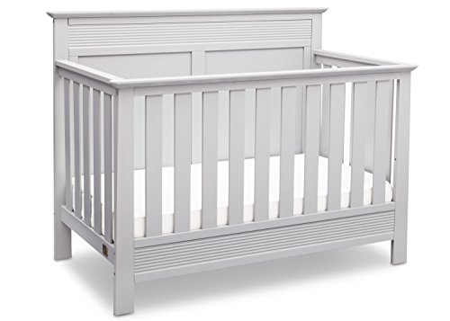 Serta Fall River 4-in-1 Convertible Baby Crib, Bianca - Pine Headboard Painted