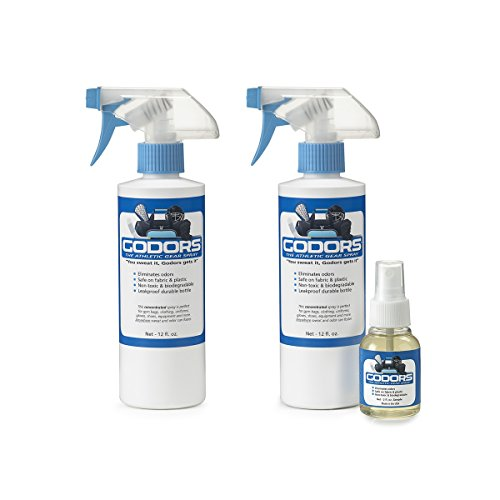 (Godors - Athletic Gear Spray a Natural Deodorizer That Eliminates Odors, Kills Bacteria and Fungi, Cleans and Disinfects for All Types of Athletic Gear, 12 fl. oz. Bottle )