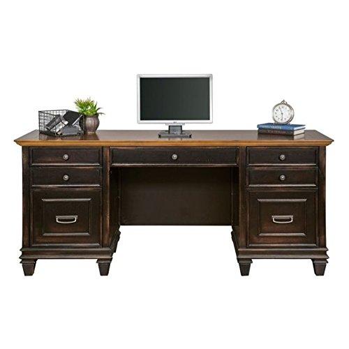 Martin Furniture Hartford Credenza, Brown - Fully Assembled (Executive Hub)