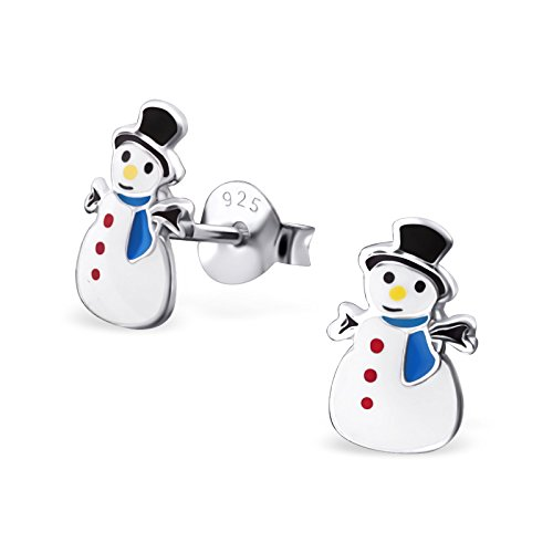 Hypoallergenic Snowman Stud Earrings (Nickel Free and Safe for Sensitive Ears)
